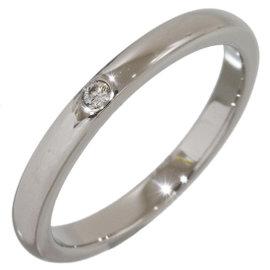 Tiffany & Co. Elsa Peretti Platinum with Diamond Band Ring Size 6.25
