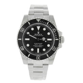 Rolex Submariner 114060 Ceramic Bezel Black Dial Stainless Steel Mens Watch
