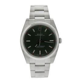 ROLEX Oyster Perpetual 34 Green Olive Dial Stainless Steel Oyster Automatic Unisex Watch
