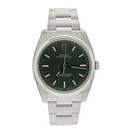 Rplex Oyster Perpetual 34 114200GNSO Green Olive Dial Stainless Steel Oyster Automatic Unisex Watch