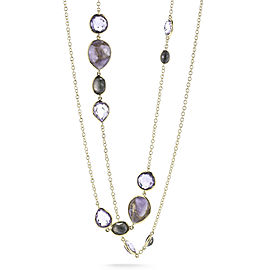 Ippolita 18KY Rock Candy Gelato Necklace with Amethyst and Blue Mother of Pearl