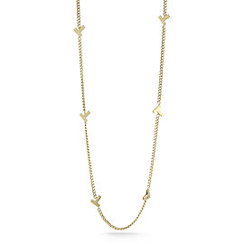 Tiffany & Co. Yellow Gold T Necklace