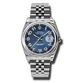 Rolex Datejust 116200 BLCAJ Steel Blue Concentic Arabic Dial 36mm Watch