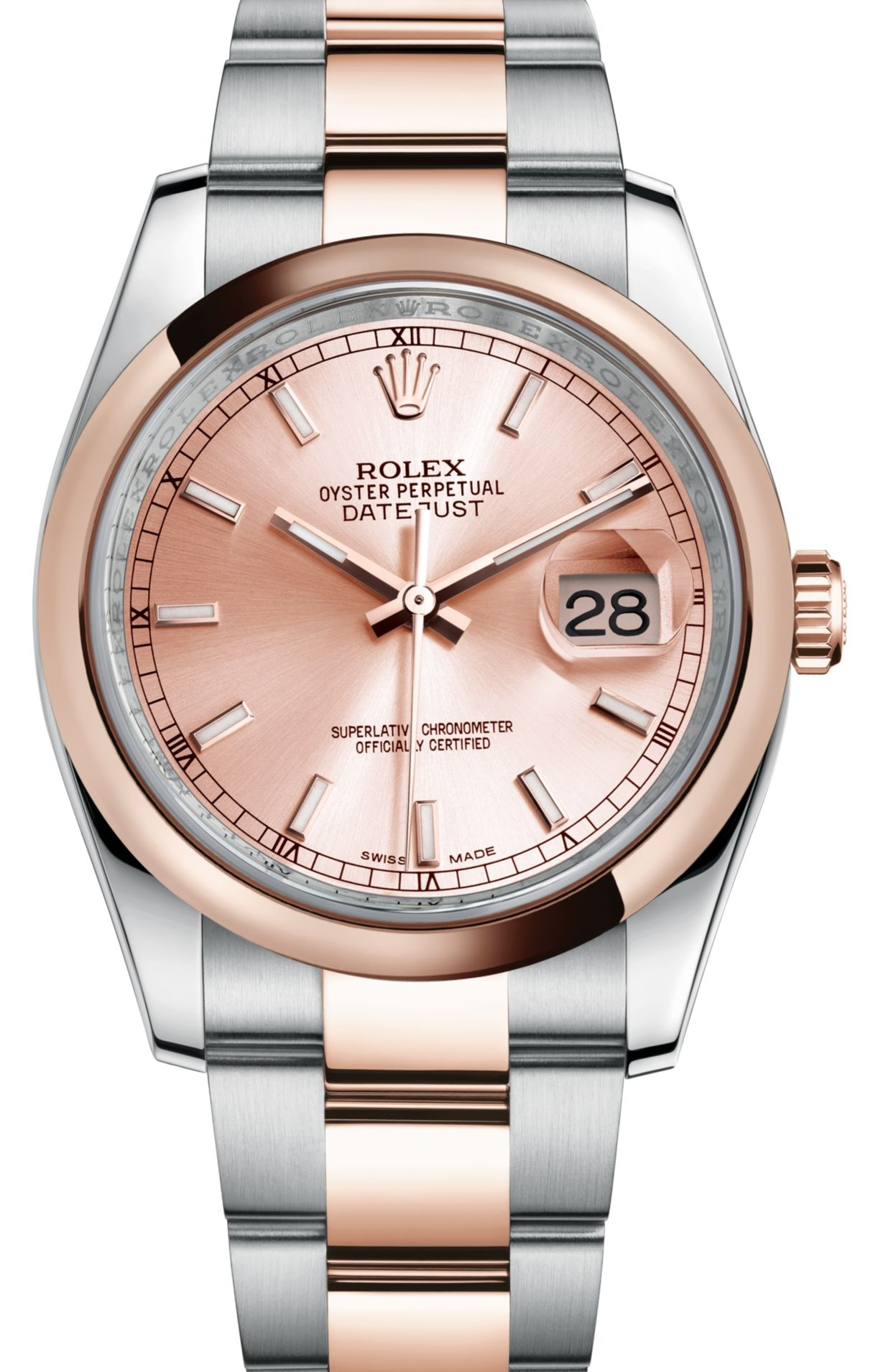 "Image of ""Rolex Datejust Pink Dial Stainless Steel and 18ct Everose Gold"""