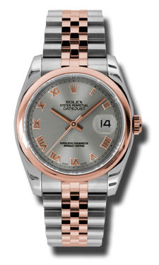 "Image of ""Rolex Datejust Steel and Rose Gold Steel Dial 36mm Watch"""