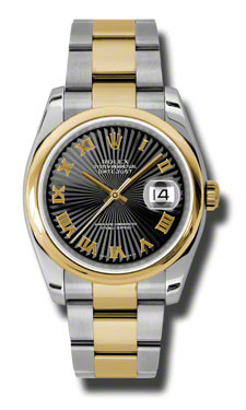 "Image of ""Datejust Black Dial Automatic Stainless Steel and 18K Yellow Gold"""