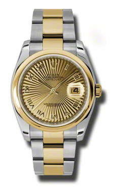 """Image of """"Datejust Champagne Dial Automatic Stainless Steel and 18K Yellow Gold"""""""