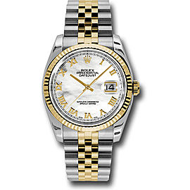 Rolex Datejust 116233MRJ Stainless Steel & 18K Yellow Gold with Mother of Pearl Dial Automatic 36mm Mens Watch