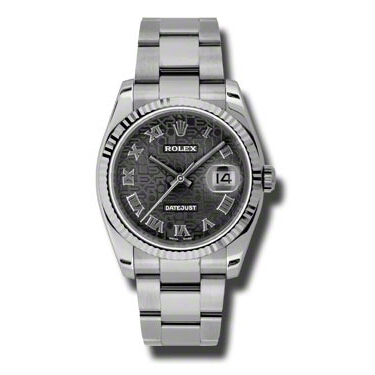 """Image of """"Rolex Datejust Steel and White Gold Black Dial 36mm Watch"""""""
