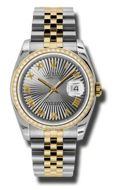 """Image of """"Rolex Datejust Steel and Yellow Gold Grey Sunbeam Dial 36mm Watch"""""""