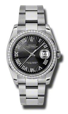 "Image of ""Datejust Black Dial Automatic Diamond Bezel Steel Ladies Watch Watch"""