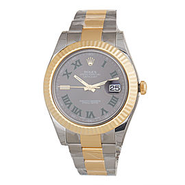 Rolex DateJust II 116333 GRO 41mm Gold & Steel Grey Dial Watch