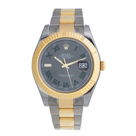 Rolex Datejust II Grey Dial Stainless steel and 18K Yellow Gold Oyster Automatic Men's Watch