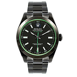 Rolex Milgauss 116400GV DLC-PVD Stainless Steel Oyster Black Dial Automatic 40mm Mens Watch