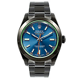 Rolex Milgauss 116400 GV DLC-PVD Coating Blue Dial Automatic 40mm Mens Watch