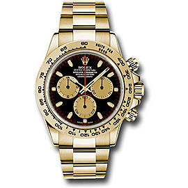 Rolex Cosmograph Daytona 116508 bkchi 18K Yellow Gold with Black Dial Automatic 40mm Mens Watch