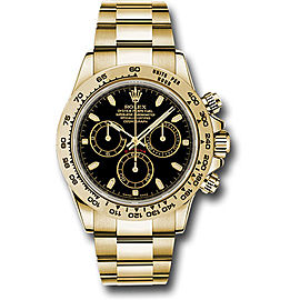 Rolex Cosmograph Daytona 116508BKSO 18K Yellow Gold with Black Dial Automatic 40mm Mens Watch