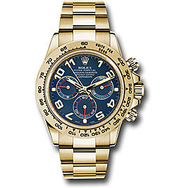 Rolex Cosmograph Daytona 116508 blao 18K Yellow Gold with Blue Dial Automatic 40mm Mens Watch