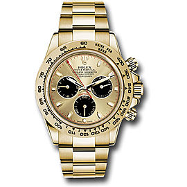 Rolex Cosmograph Daytona 116508 chbkio 18K Yellow Gold with Champagne Dial Automatic 40mm Mens Watch
