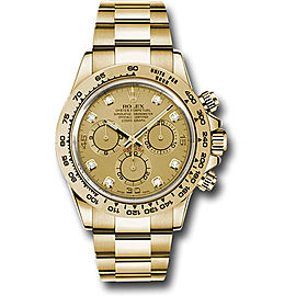 Rolex Cosmograph Daytona 116508 chd 18K Yellow Gold with Champagne Dial Automatic 40mm Mens Watch