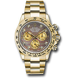 Rolex Cosmograph Daytona 116508BKMDO 18K Yellow Gold with Black Mother of Pearl Dial 40mm Mens Watch