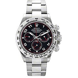 Rolex Daytona White Gold Black Dial 40mm Watch