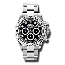 Rolex Daytona White Gold Black Diamond Dial 116509 BKDO 40mm Watch