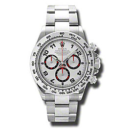 Rolex Daytona White Gold Silver Dial 40mm Watch