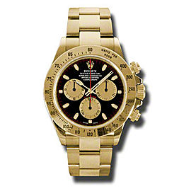 Rolex Daytona Yellow Gold Champagne Paul Newman Black Dial 40mm Watch