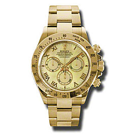 Rolex Daytona Yellow Gold Yellow Mother of Pearl Dial 40mm Watch