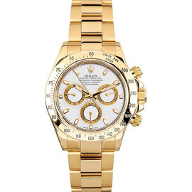 Rolex Yellow Gold Daytona 116528 White Watch