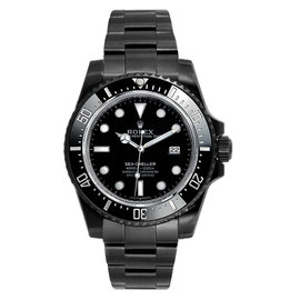 Rolex Sea-Dweller 4000 116600 DLC-PVD Stainless Steel Ceramic Bezel Black Dial Automatic 40mm Mens Watch