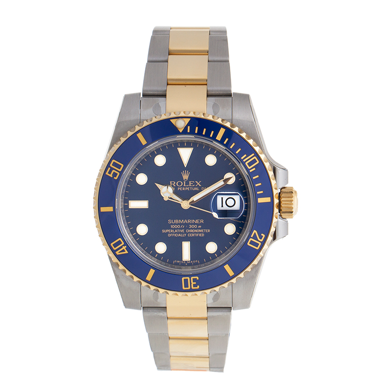rolex submariner 116613blso stainless steel and 18k yellow gold oyster automatic 40mm menu0027s watch