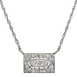 Platinum and 14KT White Gold Diamond Pendant/Necklace