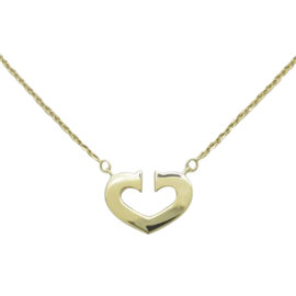 Cartier 18K Yellow Gold C Heart Necklace