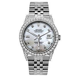 Rolex Datejust Stainless Steel Diamonds 36mm Mens Watch
