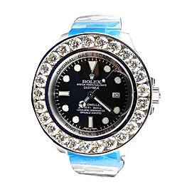 Rolex Sea Dweller Deep Sea Genuine Diamond Brand New Custom 46 mm Mens Watch
