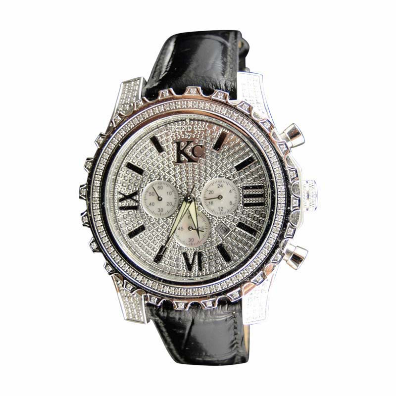 "Image of ""Techno Com KC WKK Stainless Steel Diamond Mens Watch"""