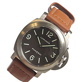 Panerai Pam 116 Titanium Luminor Marina Tobacco Dial 44mm Mens Watch