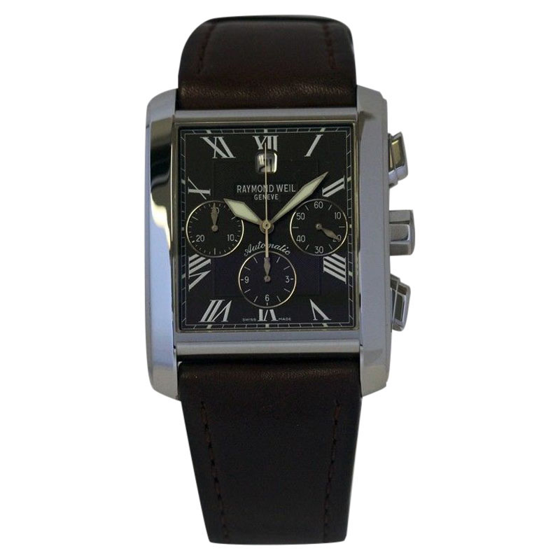 """Image of """"Raymond Weil 4875 Don Giovanni Steel Auto Chornograph Date Watch"""""""