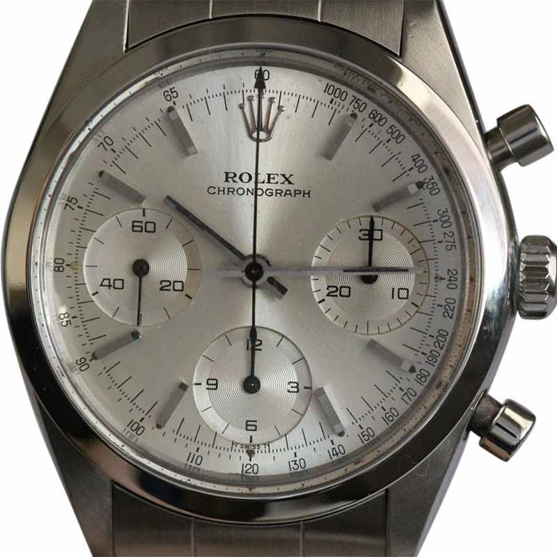 "Image of ""Rolex 6238 Stainless Steel Pre Daytona Silver Dial Mens Watch"""