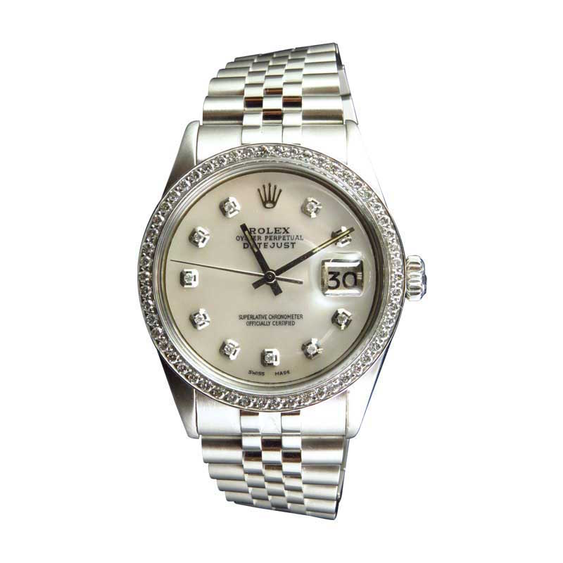 "Image of ""Rolex Datejust Jubilee Stainless Steel 2.15 Ct White Diamond 36mm Mens"""