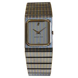 Audemars Piguet Stainless & 18K Yellow Gold Rectangular Ultra Slim Mens Watch