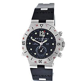 Bulgari Diagono Pro Acqua Scuba SD38S GMT 3 Time Zone Automatic Watch
