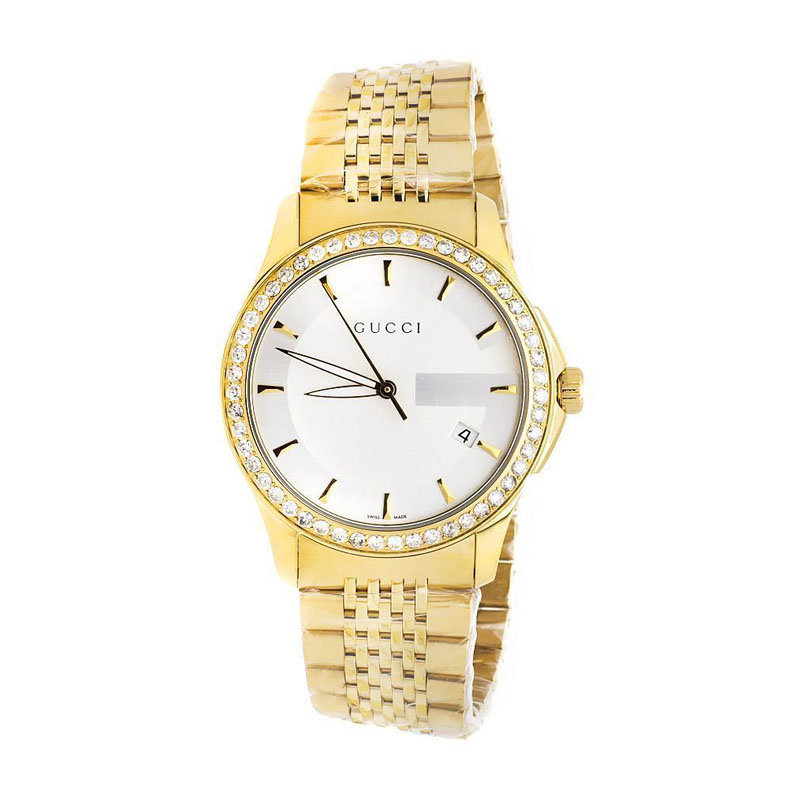 "Image of ""Gucci 101 G-Timeless Ya126409 Yellow Gold Dial 38 MM Swiss 2.0 ct."""