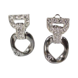 Chanel Silver & Crystal Cruise Collection Clip On Earrings