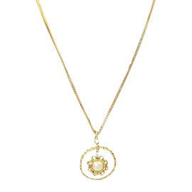 Chanel Gold and Pearl Pendant Necklace