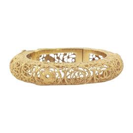 Chanel Gold Byzantine Gold Tone Bangle Bracelet