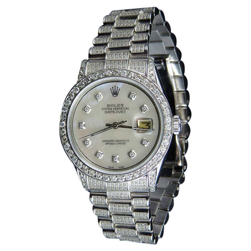 "Image of ""Rolex Datejust Presidential Stainless Steel & Diamond & Mother Of"""