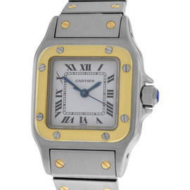 Cartier Santos 18K Yellow Gold and Stainless Steel Automatic 23mm Watch